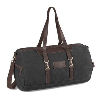Canvas Overnight Bag - Charcoal